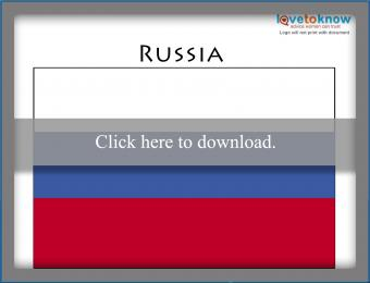 Full color Russia flag printable