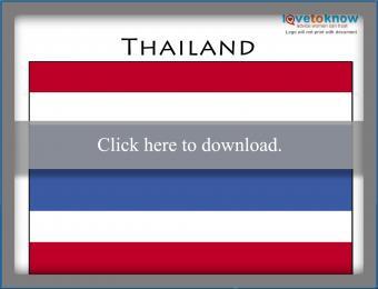 Full color Thailand flag printable