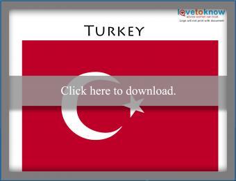 Full color Turkey flag printable