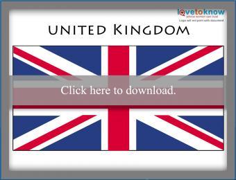 Full color United Kingdom printable flag