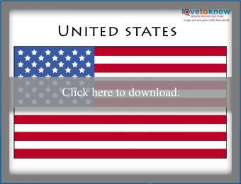 Full color United States flag printable