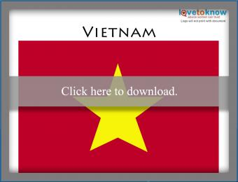 Full color Vietnam flag printable