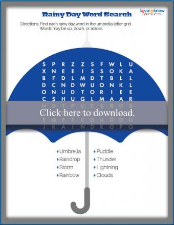 Rainy Spring Day Word Search