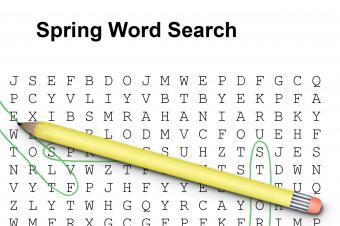 Spring Word Searches for Elementary Children