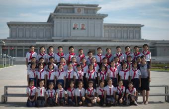 North Korean school children
