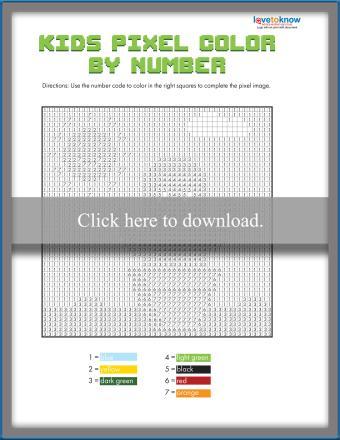 Kids Pixel Color by Number