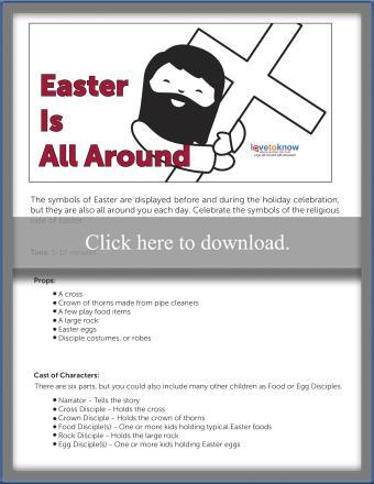 Religious Easter Skit