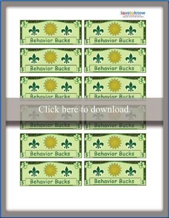 Bucks Behavior Chart Free Printable