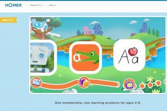 Screenshot of learnwithhomer.com