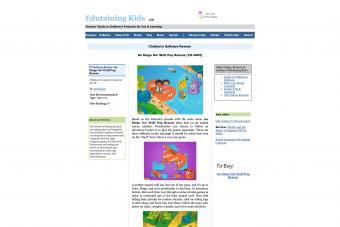 Screenshot of edutainingkids website