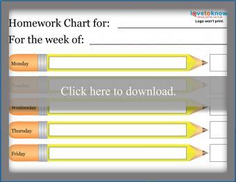 Simple Weekly Homework Checklist