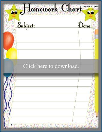 Fun and Easy Homework Chart