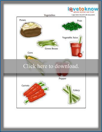 food plate printable