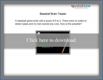 baseball brain teaser