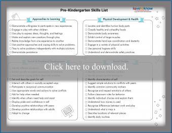 Pre-K Skills Checklist