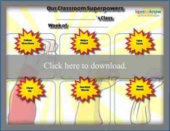 Classroom Superpowers Behavior Chart