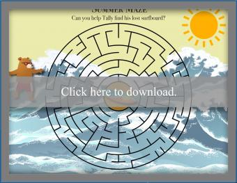 Click to print the Summer maze.