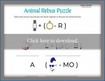 Animal Phrase Rebus Puzzle