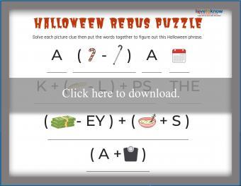 Halloween Rebus Puzzle