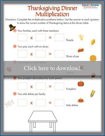 Thanksgiving Dinner Multiplication