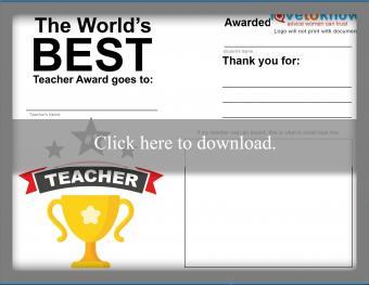 Best Teacher Thank You Note