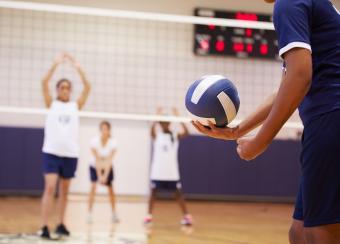 Volleyball Match serving