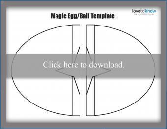 Magic egg/ball puppet template