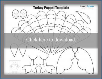 turkey puppet template