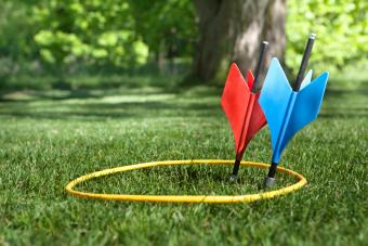 A shot of some vintage lawn darts