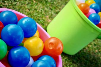 Colorful Balls In Bucket