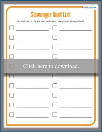 Long Scavenger Hunt Template PDF
