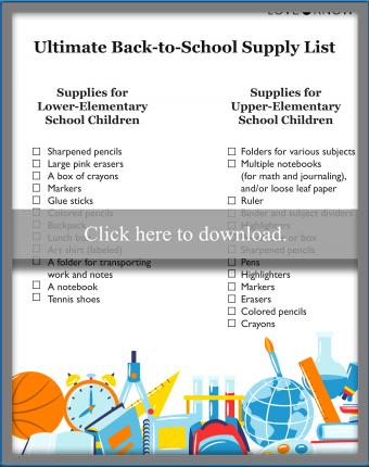 Ultimate Back-to-School Supply List