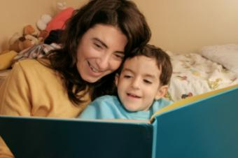 Parent and child reading together