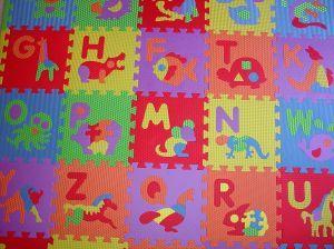 Child's alphabet floor mat puzzle