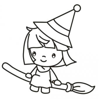 Witch Coloring Sheet