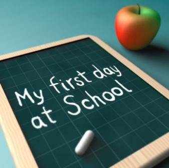 first day of school chalk board
