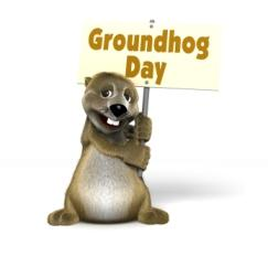 groundhog holding a sign