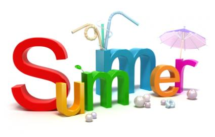 Summer written in 3-D letters