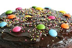 candy dot cake