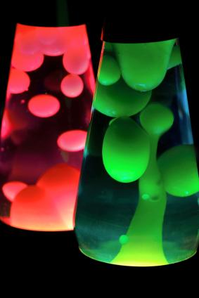 Colorful lava lamps