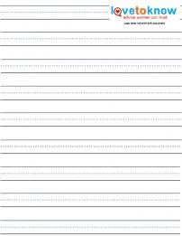 Free Handwriting Practice Worksheets | LoveToKnow