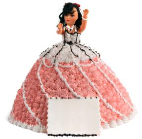 Princess doll cake
