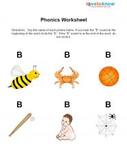 letter 'b' worksheet