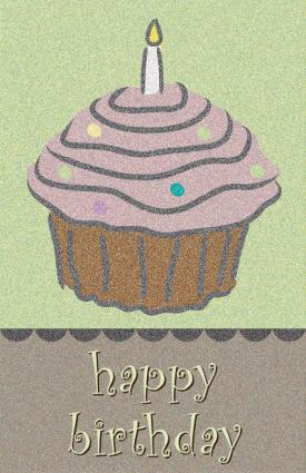 Kids Cupcake Birthday Card
