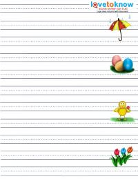 spring half spaced handwriting worksheet