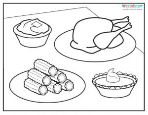 Nice Thanksgiving Dinner Coloring Page