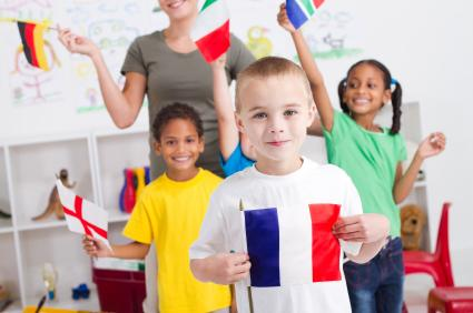 kids with flags