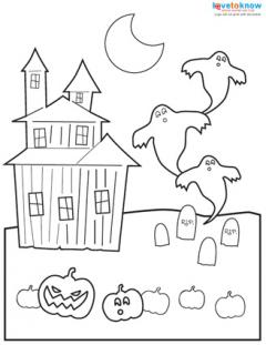 Halloween Printable Activites coloring page thumb