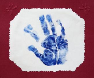 framed hand print