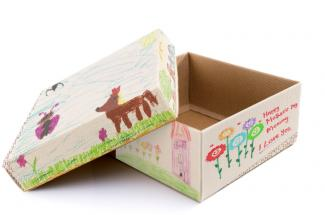 decoupage shoe box